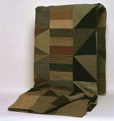 patchwork quilt made by daniel owen in 1880 ~♥~ 1880, daniel owen, color, suits, patchwork wool, textil, antiqu, wool quilts, patchwork quilt