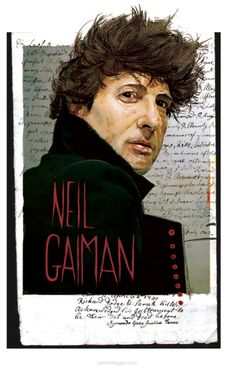 Neil Gaiman, illustrated.