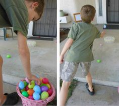 Easter Game Egg Toss!  We could use all those RED solo cups!!!