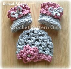 Instant Download - Baby Girl Hat and Booties Crochet PATTERN, Winter Princess Set, Baby Crochet Pattern, Newborn Size, 0-3 mo on Etsy, $3.99