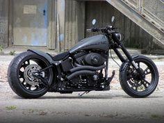 car, harley davidson, motorcycl, walz hardcor, bike, wheel, flat, nice ride, matte black