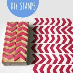 It's easy to make your own stamps. All you need is craft foam, glue, and wooden blocks.