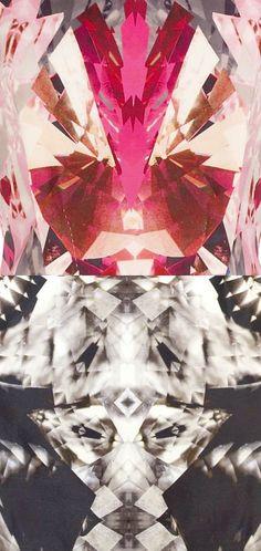 Alexander McQueen digital prints.