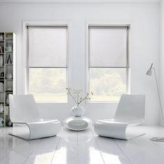 Sheer roller Blinds in white living room   Remodelista Enje roller blind USA, CORDLESS