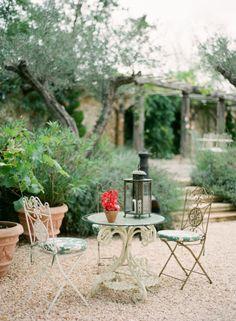 Outdoor Patio Dining at the Borgo Santo Pietro, Tuscany