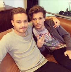 Liam and Louis at a photoshoot