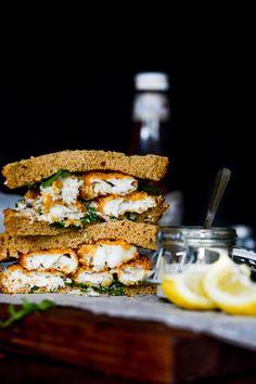 crispy fish sandwich.