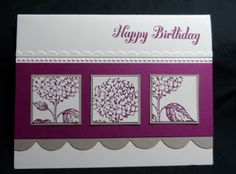 Best of Flowers by Stampin' Up!  #scrapbook #punch #hydrangea #big shot tasteful trim #emboss folder