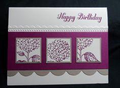Best of Flowers by Stampin' Up!  #scrapbook #punch #hydrangea #big shot tasteful trim #emboss folder