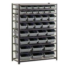 Sandusky 36 Bin Black Industrial Storage Rack $179.88