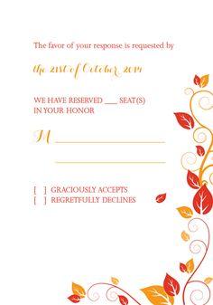 Autumn Foliage Wedding RSVP