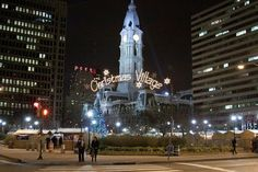 Philadelphia's Christmas Village at Love Park (Photo by M. Fischetti for GPTMC)