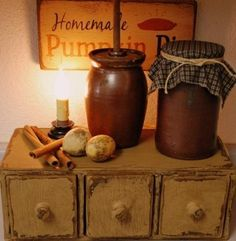 Primitive three drawer apothecary chest