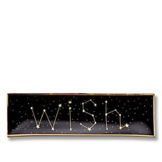 Wish Upon A Star Glass Plate $20