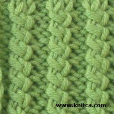 Knitting Pattern Twisted Ribbing : Knitting Stitches on Pinterest Knitting Stitches, Knit Stitches and Stitches