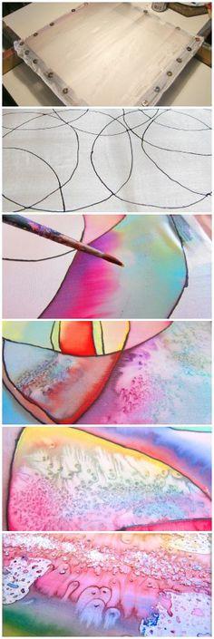 Silk Painting – Salt Technique