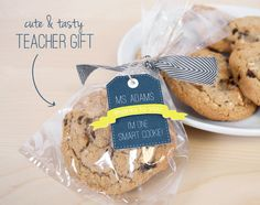 "Cool Teacher Appreciation / End of School Year idea!  ""Thanks to you - I'm one smart cookie!"""