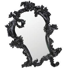 Gilt Claudette Mirror Black now featured on Fab.