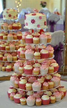 cupcake displays, cupcake stands, mini cupcakes, wedding cupcakes, pink weddings, cupcake cakes, pink cupcakes, small cakes, cupcake towers