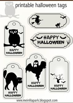 FREE printable halloween tags - for your treat bags ^^