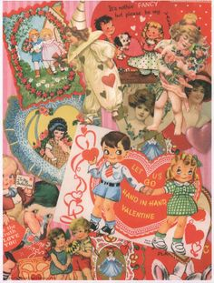 free+printable_vintage+valentine+collage+2.jpg (1213×1600)
