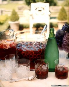Bing Cherry Vodka Punch  1 1/4 cups sugar  1 1/4 cups freshly squeezed lime juice (about 9 limes)  3 pounds Bing cherries  18 ounces best-quality black cherry or plain vodka   1 bottle sparkling water (750 mL)