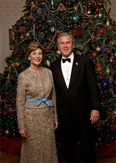 2004 George W. Bush and Laura Bush