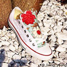 Floral Converse Shoes / Floral Chucks by LivingYoungDesigns, $85.00