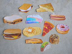 Food Stickers CHOOSE 3 by ClayRunway on Etsy, $1.00
