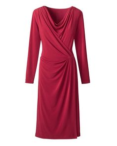 Cowl wrap dress from Coldwater Creek