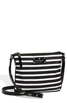 kate spade new york 'stripe nylon tenley' crossbody bag available at #Nordstrom