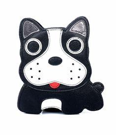 Black White Boston Terrier Vinyl Cross Body Handbag (41507-CO-84966LE) van Comeco Inc. - It\'s paws itively adorable, dol...Price - $30.00-CQ2EDgDa