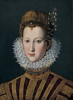 Portrait of Maria de' Medici (1575 – 1642) as a young girl. Queen of France and the second wife of King Henry IV of France