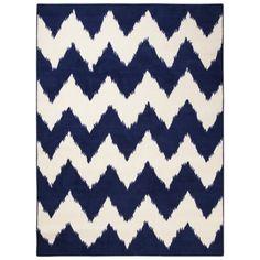 Room Essentials® Chevron Woolure Rug - Suddenly Sapphire
