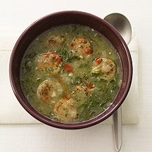 Portuguese Caldo Verde Soup - Best recipe I have found for this delicious kale, potato and sausage soup.  The grating technique for the potato makes all the difference.  I use chicken andouille (spicy) sausage instead of turkey and I omit the salt and hot sauce.  Also, I don't peel the potato - just scrub it well.  Easy and delicious!
