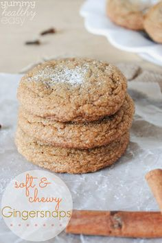 Soft, chewy, delicious gingersnaps cookies. Just like Grandma made. Your family will love these!