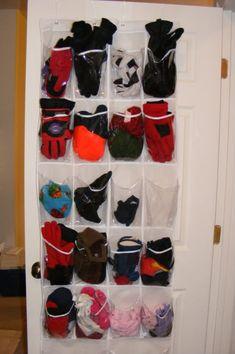 Mittens, gloves and hat storage