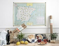 Goods of Spain map by relajaelcoco , via Behance