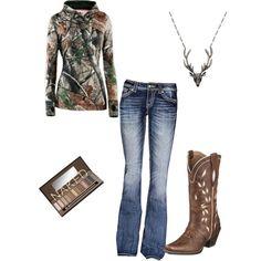 fashion, cowboy boots, hunting season, polyvor outfit, leather boots, hunting outfits, hunt season, necklac, polyvore