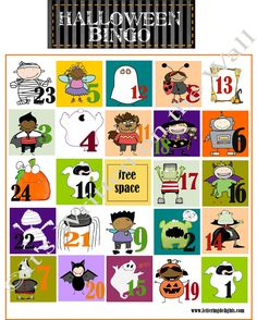Halloween Bingo PLUS 22 Fun Halloween Games, Treats and Ideas for your Halloween Party