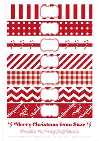 christmas jars, wrap band, printabl christma, christmas gift wrapping, christma band, free printabl, printabl wrap, christmas gifts, christmas wrapping