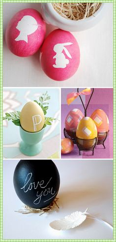 holiday, egg crafts, silhouett easter, egg decorating, craft cutter