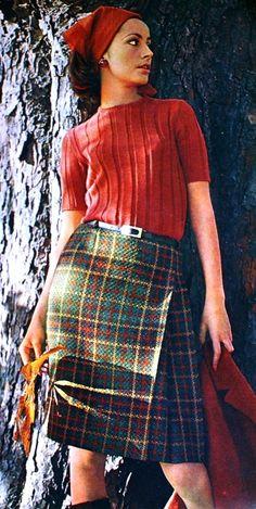 Shetland tweed skirt, Margriet (Dutch) August 1966