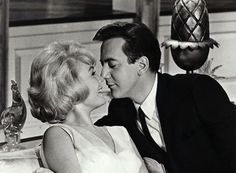 """Bobby Darin & Sandra Dee in """"That Funny Feeling."""" A very cute couple in a very cute movie. : )"""