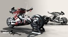 Electric motorcycle PART II by Yung Presciutti, via Behance