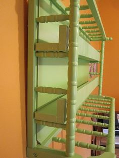 baby changing table to shelf
