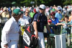 Zach Johnson arrives at the driving range during Monday's practice round of the 2012 Masters Tournament at Augusta National Golf Club on April 2, 2012, in Augusta, Ga. http://www.Augusta.com