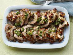 Mushroom-Stuffed Pork Tenderloin #Protein #Veggies #MyPlate