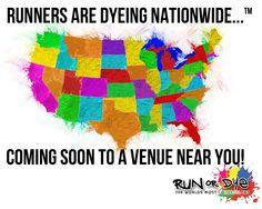 Come join the world's most colorful 5k! Register here : http://runordye.com/locations  #runordye #5k #run