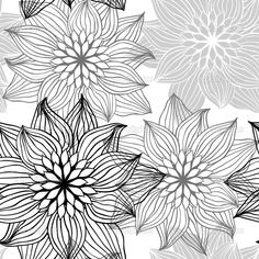 how to draw bohemian flowers   how to draw : flowers patterns